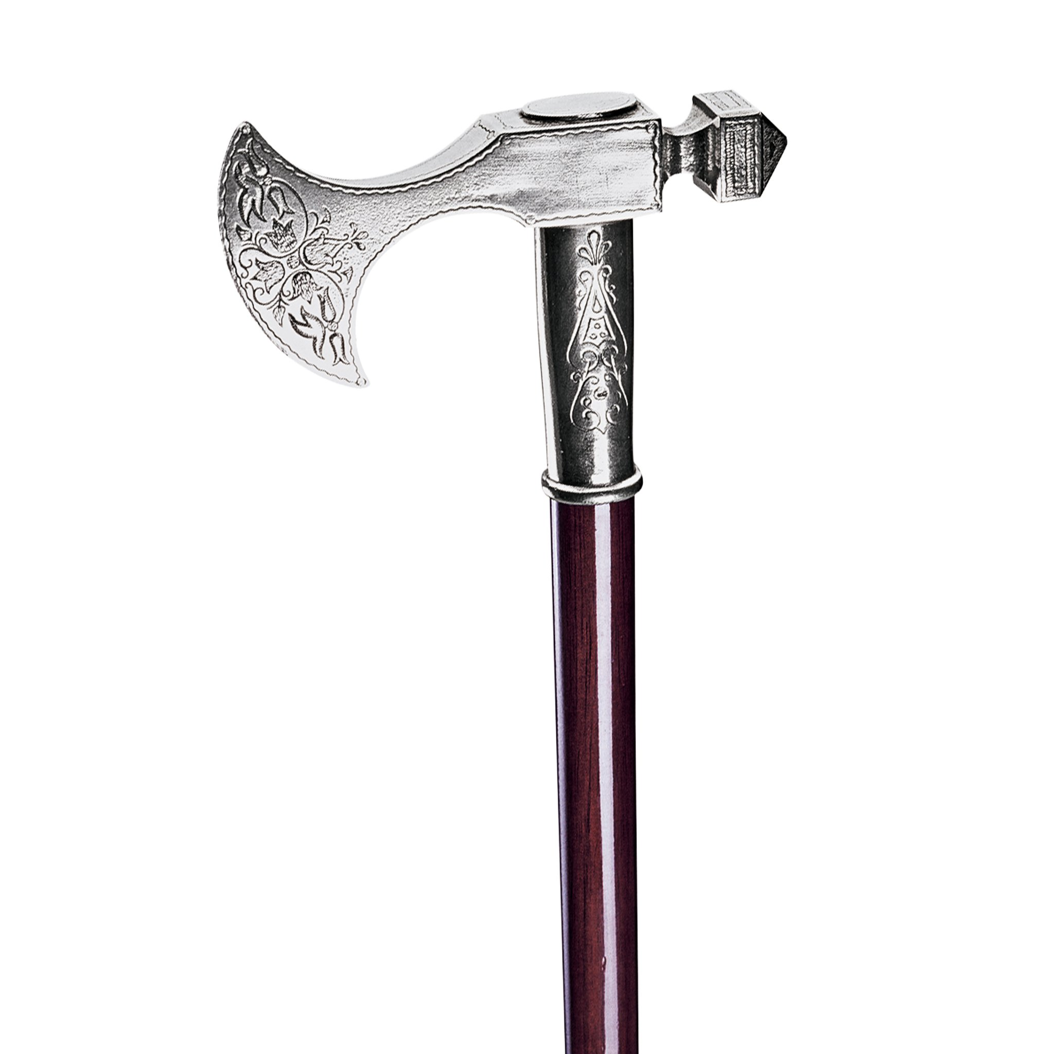 Design Toscano Bavarian Walking Stick with Pewter Handle