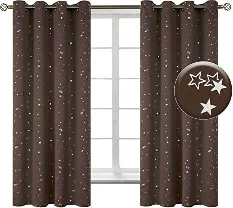 Silver Star Printed Thermal Insul... BGment Kids Blackout Curtains for Bedroom