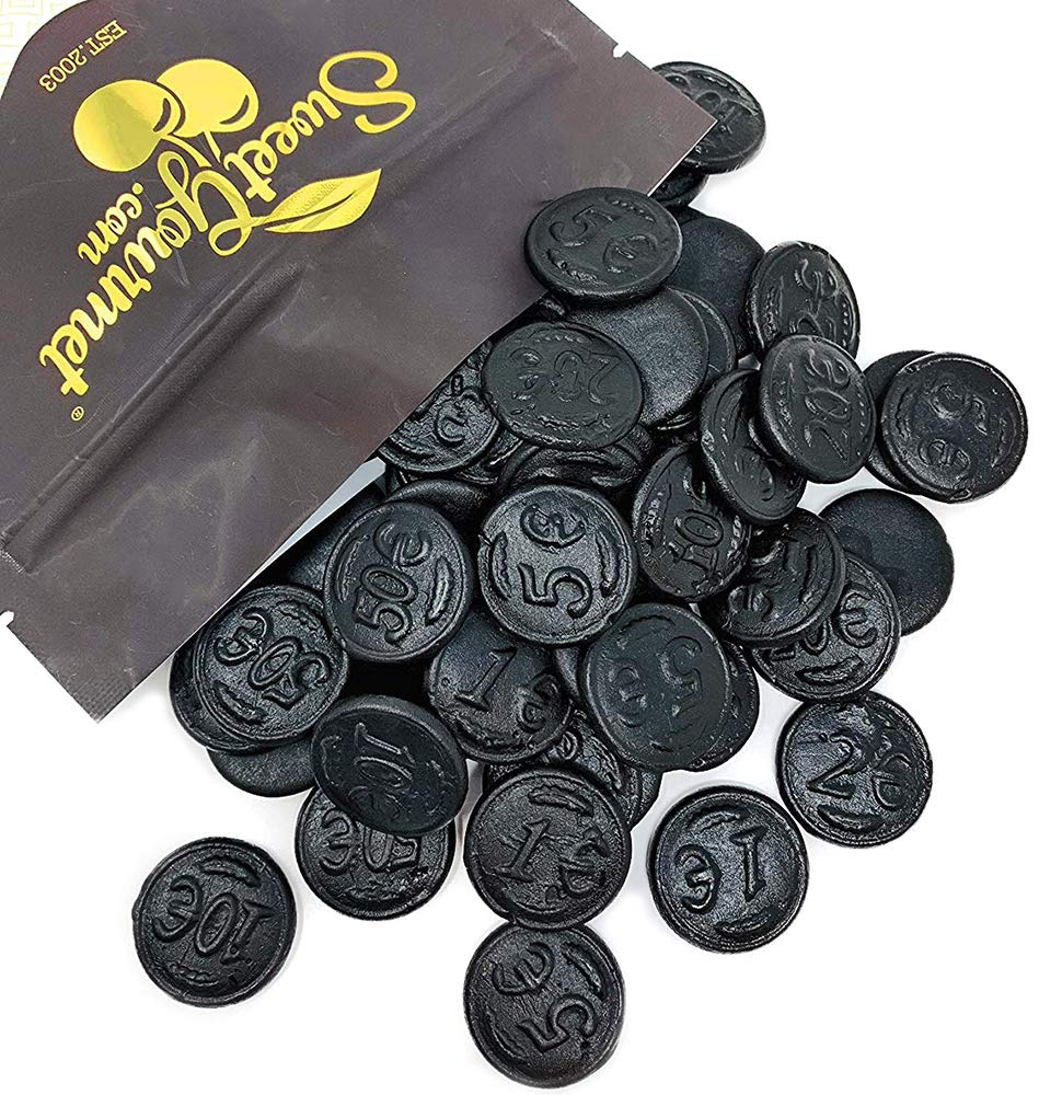 Gustaf's Premium Dutch Licorice | Salted Licorice Coins | Bulk Candy | 1 pound (453g) by SweetGourmet