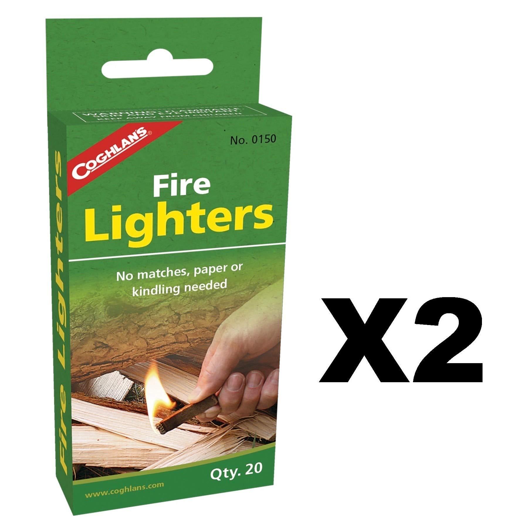 Coghlan's Fire Lighters Odorless Lighters Survival Firestarters (2-Pack of 20) by Coghlan's