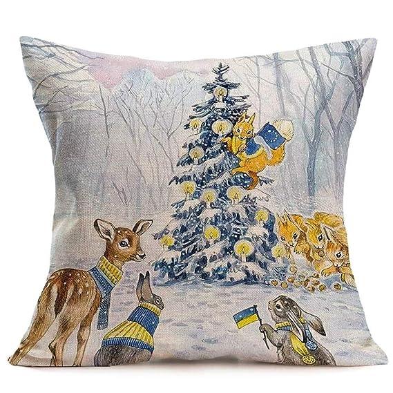 Amazon.com: ARM 1PCS 45x45cm Christmas Cushion Cover Throw ...