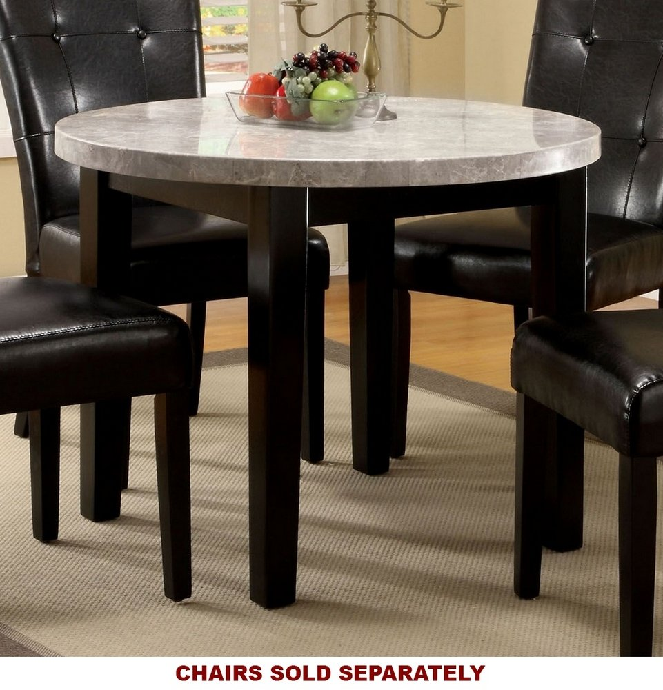 Furniture of America CM3866RT-40 Marion I Marble Top Round Dining Table