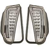 30系 プリウス ZVW30 クリア レンズ ホワイト ファイバー デイライト 付き LED ウィンカー フォグ 交換式 左右 新品 H23/12-H27/11