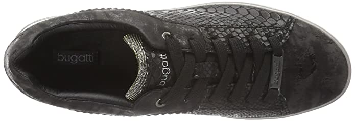Bugatti Damen J76186N Sneaker, (schwarz 100), 40 EU