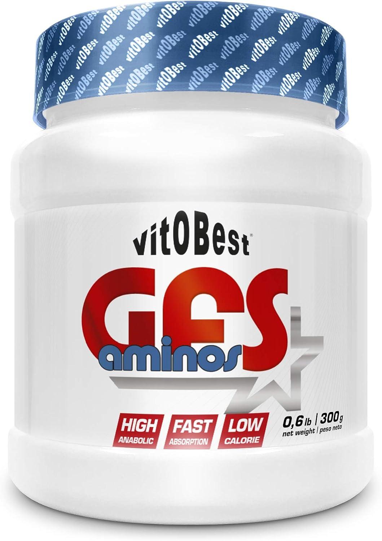 Aminoácidos Esenciales GFS AMINOS Powder Polvo, Cápsulas y viales - Fuerte Recuperador Muscular - Suplementos Deportivos - Vitobest (Limón, 200g)
