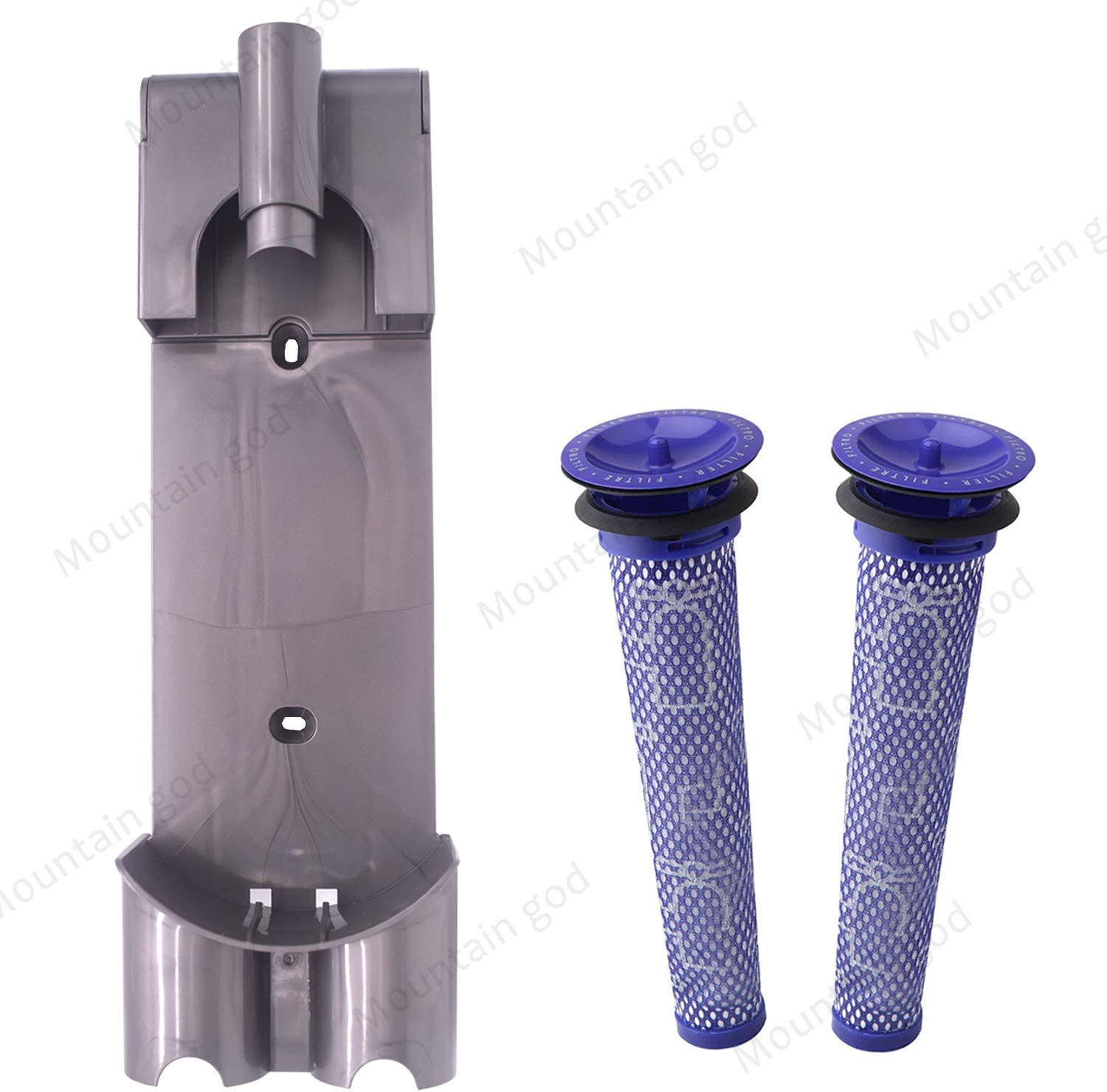 Replacement Docking Station Part Kit - 1 Wall Mount Bracket 2 Pre Filters Parts Compatible with Dyson V7 V8 Series Handheld - Replenishment Vacuum Cleaner Docking Station Filter Accessories