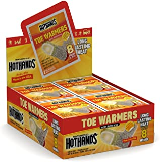 product image for HotHands Adhesive Toe Warmer, 40 Pair Value Pack with Free Carrying Pouch