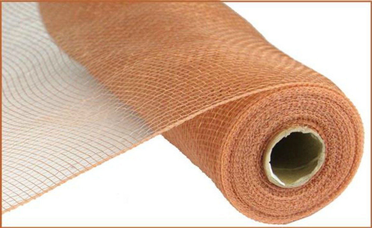 10'' Poly Deco Mesh: Rose Gold - Craigbachman Poly Deco Floral Mesh in Rose Gold