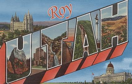 Amazoncom Roy Utah Large Letter Scenes 12x18 Art Print Wall