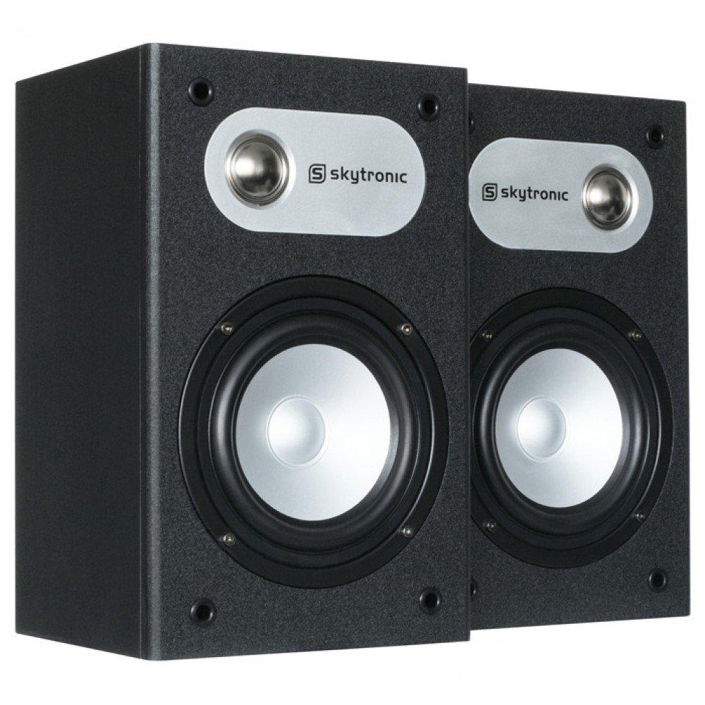 Skytronic SHFB658B 120W Negro Altavoz - Altavoces (De 2 vías, Alámbrico, Banana, 120 W, 65-20000 Hz, Negro)