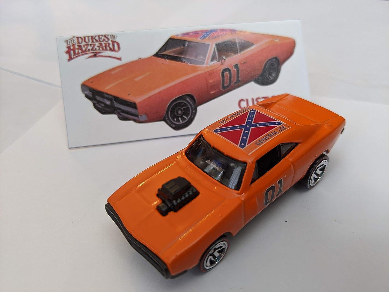 Custom Hot Wheels Dukes of Hazzard General Lee 1970 Dodge Charger ...