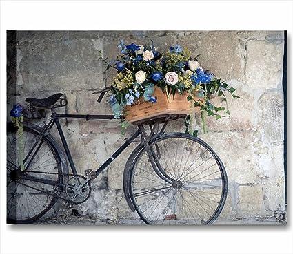Quadri Lc Italia Bici Vintage Retro Quadro Moderno Made In Italy Stampa Su Tela Canvas 70 X 50 Cm Arredo Shabby Chic Soggiorno Camera Letto