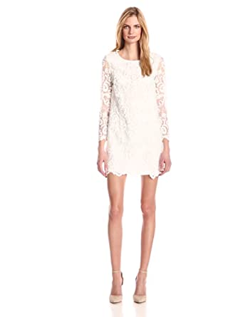 French connection white dress long sleeve