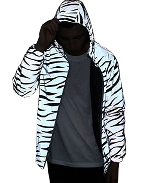 Amazon.com: Mens reflectante 3 m Lluvia chamarra Coat Hight ...