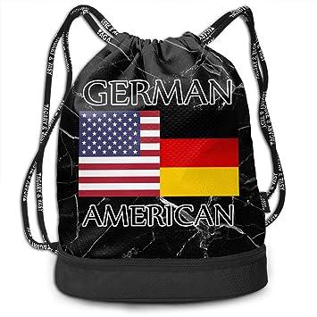 Amazon.com: Mochila deportiva con cordón, bandera alemana ...