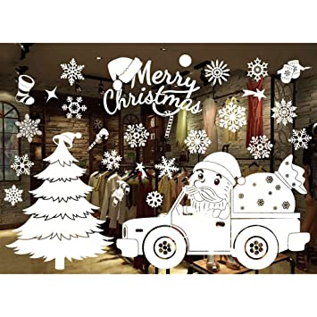 Tannenbaum Muster.Gazechimp Merry Christmas Fensterbilder Selbstklebend