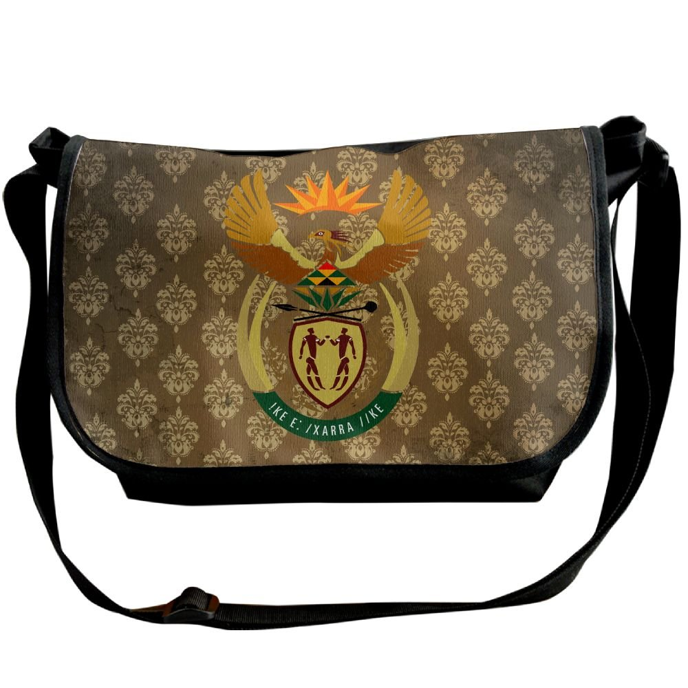 Lov6eoorheeb Unisex Coat Of Arms Of South Africa Wide Diagonal Shoulder Bag Adjustable Shoulder Tote Bag Single Shoulder Backpack For Work,School,Daily