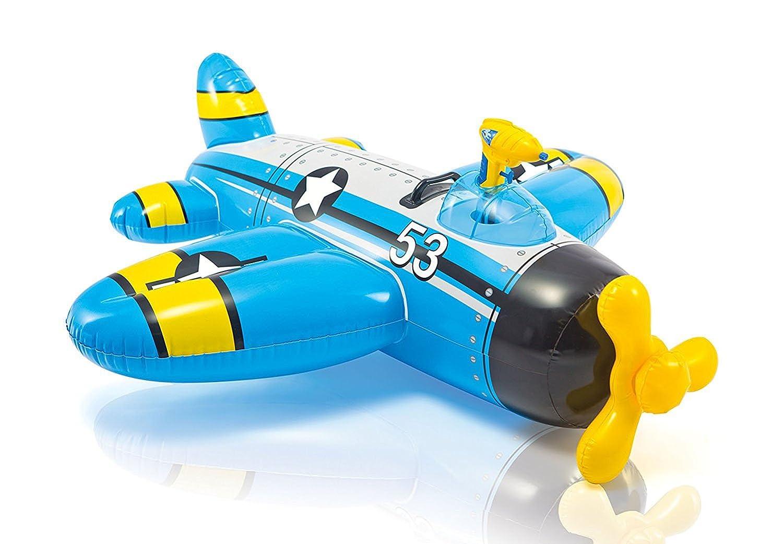 Avión Hinchable Con Pistola Intex Azul: Amazon.es: Juguetes y juegos