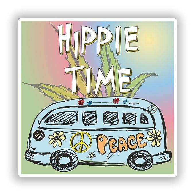 2 x Pegatinas de vinilo de furgoneta hippie tiempo Viajes equipaje ...