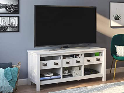 Amazoncom Ameriwood Home 7485341com Adams 64 Ivory Oak Tv Stand