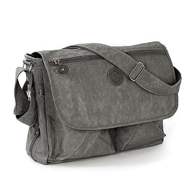 892086b7c3114 Tasche Street Damenhandtasche Damen Grau Nylon Bag Mit Umhängetasche  PikZulXOTw