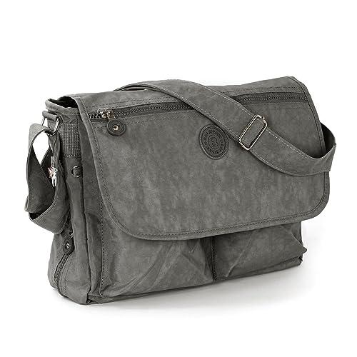 d2eda9e65 Bag Street - Bolso al hombro de nailon para mujer gris: Amazon.es: Zapatos  y complementos
