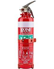 Fire Extinguisher 1kg ABE Professional Dry Powder 1kg & Bracket Car Boat Home