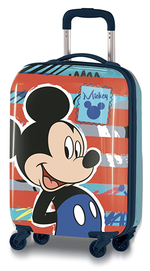 official images hot products authentic Disney Topolino D97771 Valigia Per Bambini, Trolley Da Cabina, 55  Centimetri, 33 Litri, Multicolore