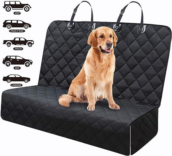 Fityou Hunde Autoschondecke Wasserdicht Hundedecke Auto Rückbank Anti Rutschhundedecke Für Kofferraumschutz 600d Verdicktes Oxford Fit Für Alle Autos 137x124 5 Cm Haustier