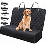 Fityou Dog Car Seat Covers, Waterproof Pet Cover for Backseat Protector Hammock 600D Oxford Fabric Scratchproof & Non-slip Be