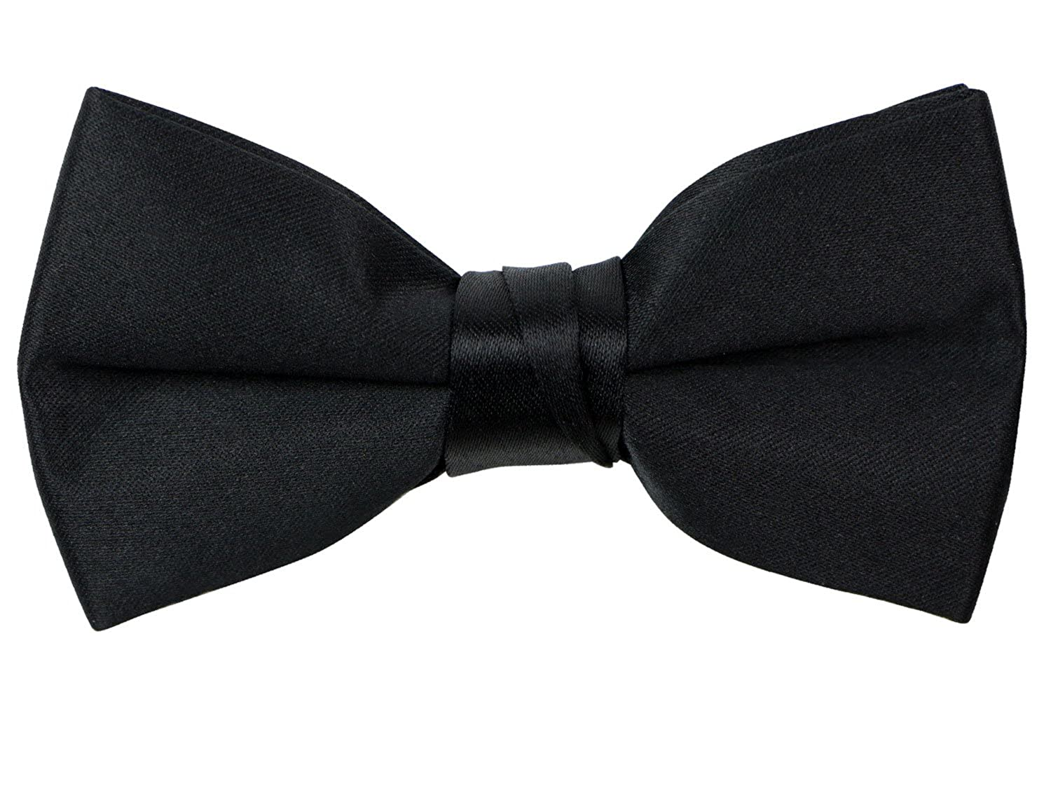e42e07e26fcb Pre-tied satin bow tie with adjustable strap. Made with quality satin  fabric, this quality crafted bow tie will stand up to multiple use.