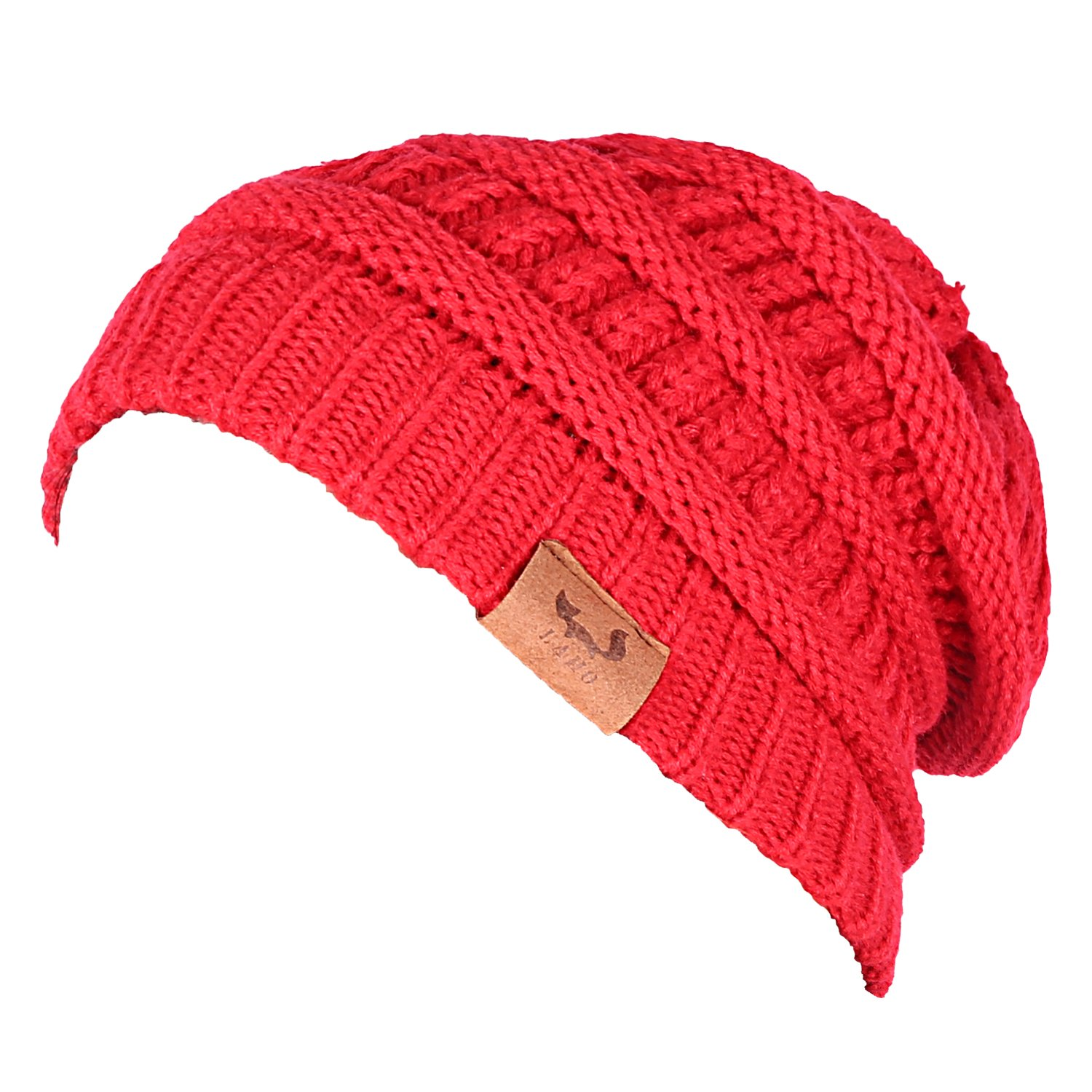 1db7921081e84 Laho Unisex Trendy Warm Chunky Soft Stretch Cable Knit Hat Slouchy Skully  Beanie Cap