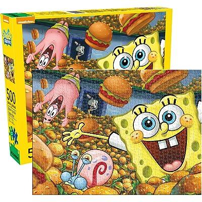 Aquarius Sponge Bob Square Pants 500 Piece Jigsaw Puzzle: Toys & Games