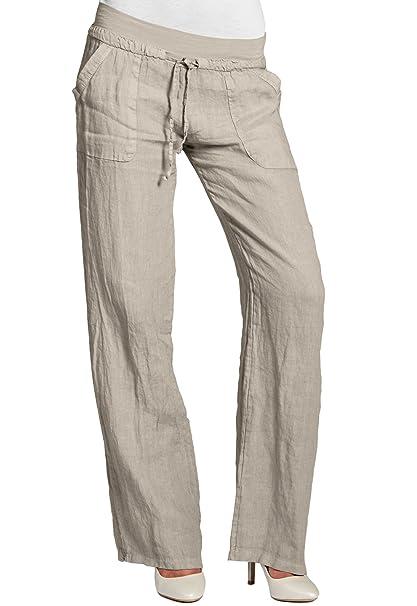 CASPAR KHS025 Damen Leinenhose