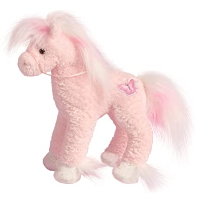 Cuddle Toys 738 20 cm Tall Butterfly Pink Horse Plush Toy: Toys & Games