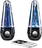 Altavoces Usb con luces led y chorros de agua música relajante Altavoz Amplificador para Pc, Smartphone, Tablet, Mp3 Water Speaker