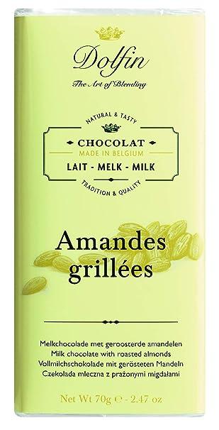 Dolfin Chocolate con Leche y Almendras Tostadas - 5 Paquetes de 1 x 70 gr -