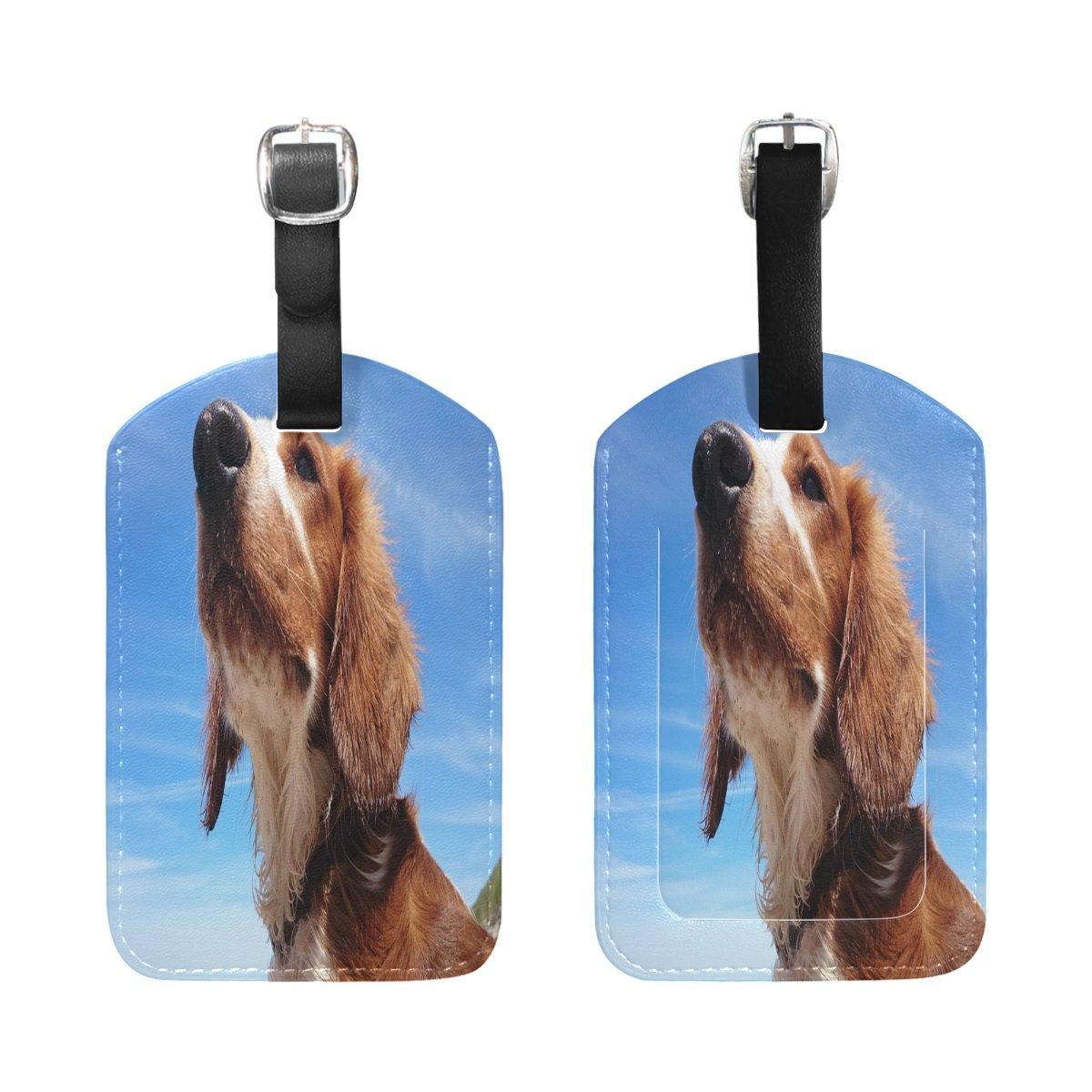 Saobao Travel Luggage Tag Dog And Sky PU Leather Baggage Suitcase Travel ID Bag Tag 1Pcs