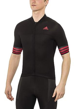 83fc2eb17c39a adidas ADISTAR SS Jersey Men's Cycling Jersey Black/Vivid Red ...