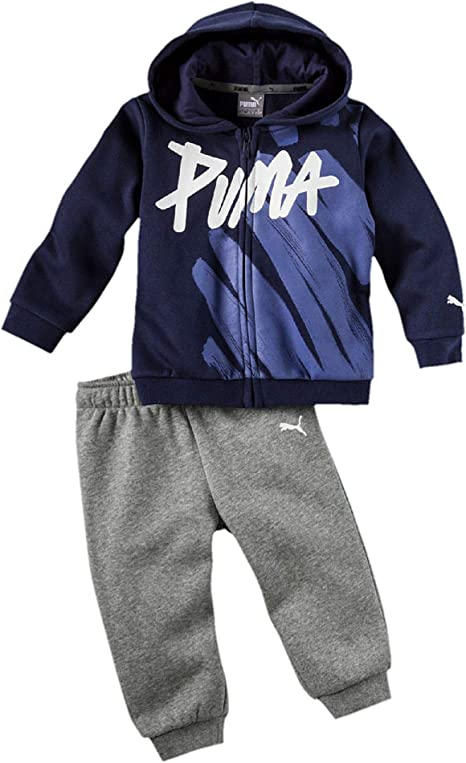 PUMA Baby Minicats Hooded - Chándal con capucha, color verde ...