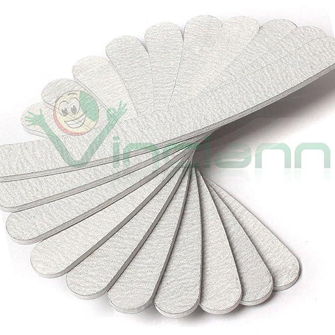 5 opinioni per Kit professionale 50 lime lima curva bilaterale grana 100 180 unghia unghie