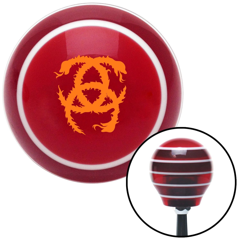 Orange Heraldic Snakes American Shifter 114068 Red Stripe Shift Knob with M16 x 1.5 Insert