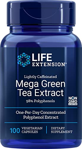 Life Extension Mega Green Tea Extract Lightly Caffeinated 98 Polyphenol