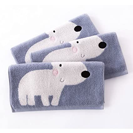 Toallas CHENGYI niño de algodón Puro pequeña hogar Bordado de Dibujos Animados Suave y cómodo toallita