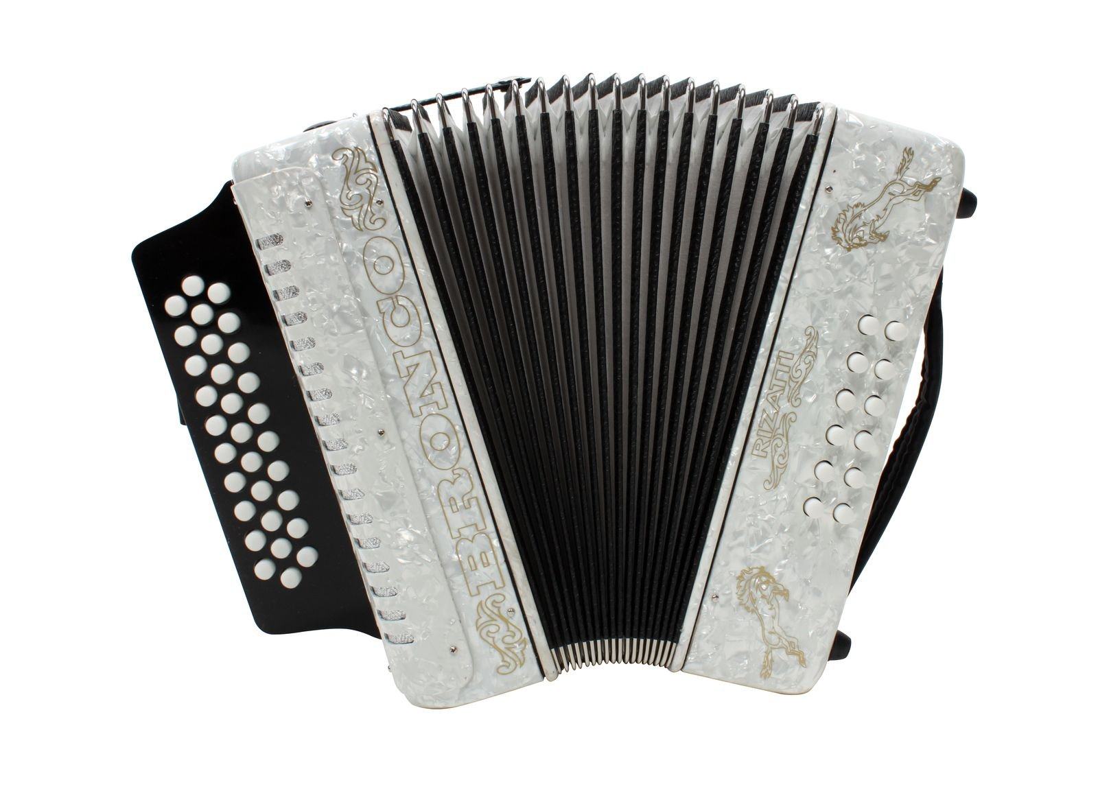 Rizatti Bronco RB31FW Diatonic Accordion - White - Key F/Bb/Eb by RIZATTI (Image #1)