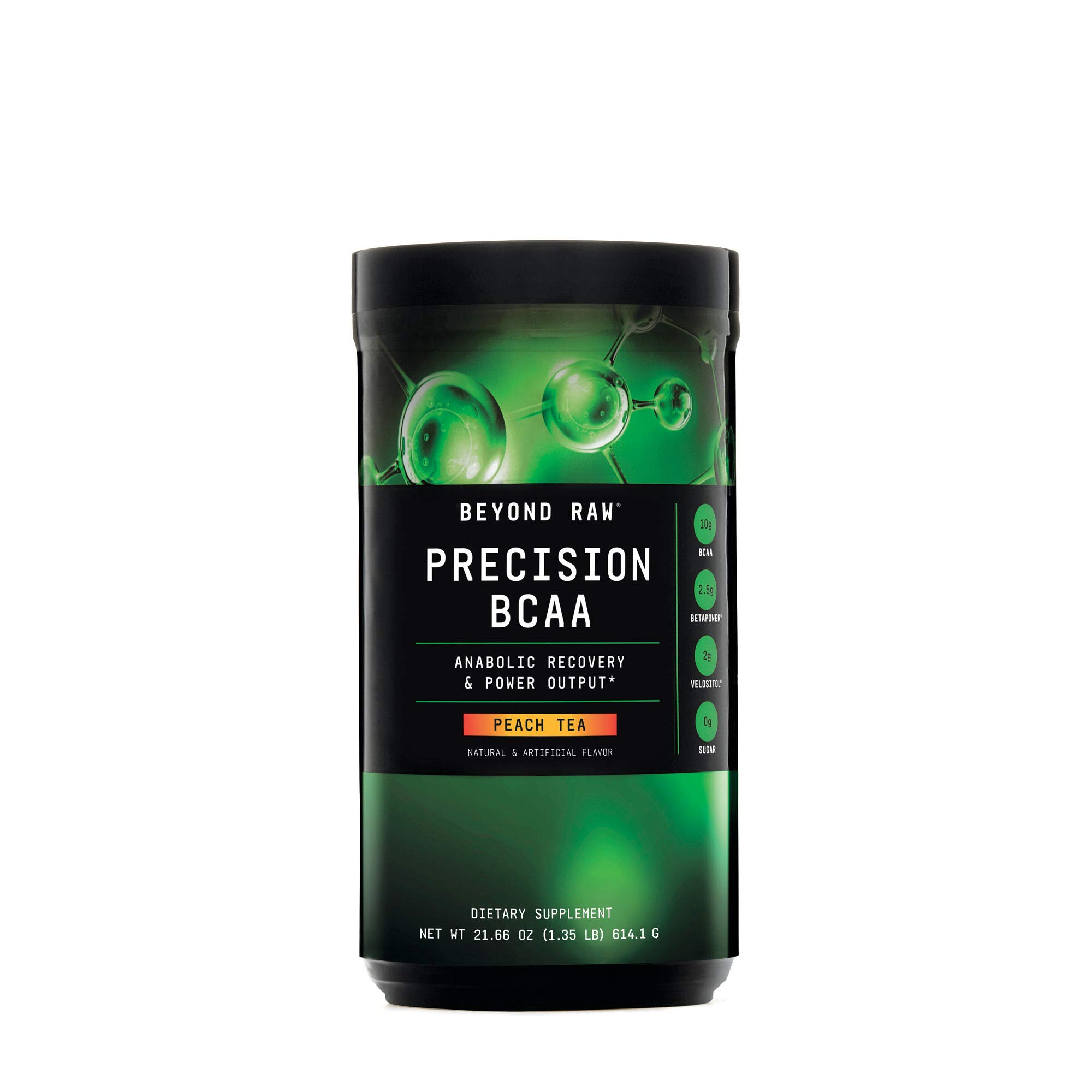 Beyond Raw Precision BCAA, Peach Tea, 30 Servings, Provides Energy and Supports Muscle Repair