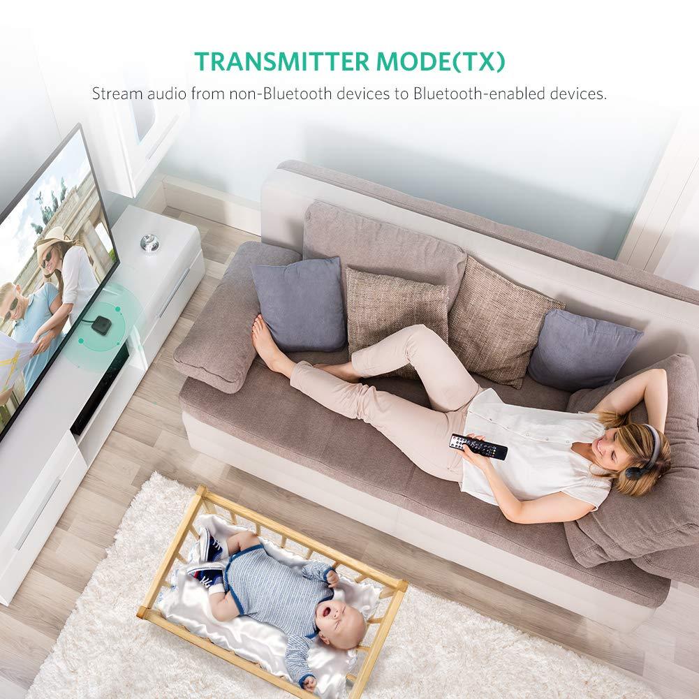 UGREEN Transmitter Bluetooth Sender Klinke 3,5 Bluetooth Empf/änger Toslink 2 in 1 Bluetooth Adapter aptX LL Bluetooth V4.2 f/ür Optischer Ausgang 2 Bluetooth Kopfh/örer Gleichzeitig