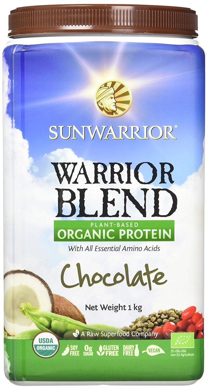 Sunwarrior Warrior Blend Plant Based Organic Protein Chocolate, 2.2 lbs