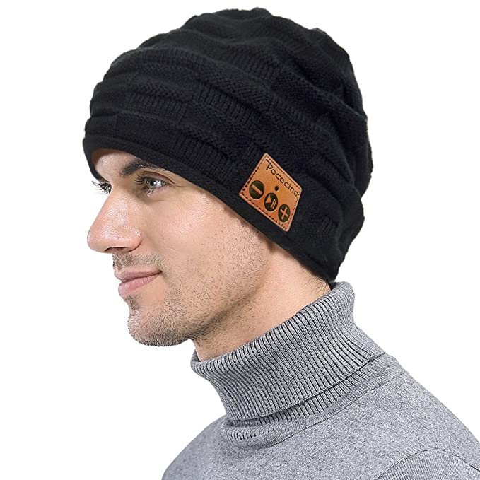 5342d453ff9 Pococina Bluetooth Beanie Knit Hats with Headphones