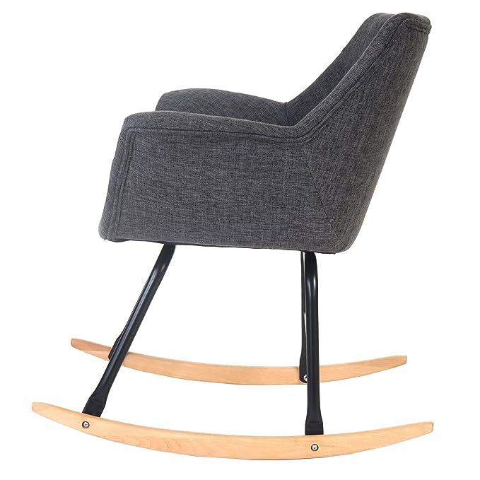 Silla mecedora Malmö T820, sillón de relajación ~ Tejido ...